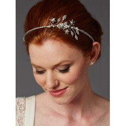 Baby Pearl Floral Sprigs Hand-Made Designer Headband