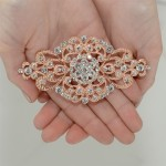 Best Selling Rose Gold Vintage Art Deco Bridal Brooch