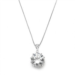Bridal, Prom or Bridesmaids Bling CZ Necklace Pendant