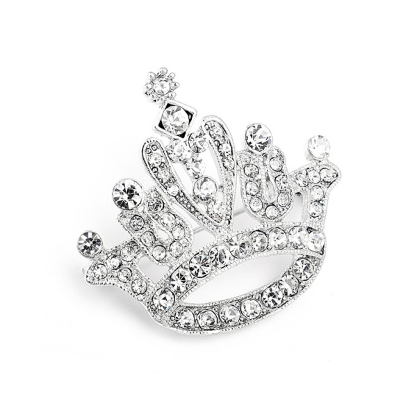 Crystal Rhinestone Crown Pin for Pageant