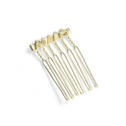 """Gold Comb Adapter for Brooches - 3/4"""" Wide"""