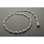 Ivory Pearl & Crystal Long Back Necklaces for Bridal, Bridesmaids & Prom