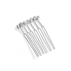 """Silver Comb Adapter for Brooches - 3/4"""" Wide"""