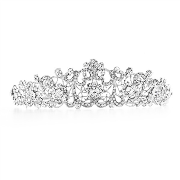 Vintage Bridal, Wedding or Prom Tiara with Clear Crystals